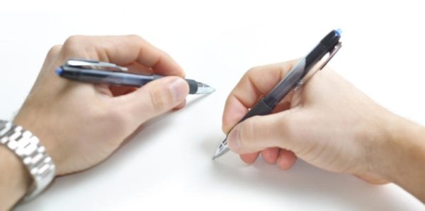 Попробуйте писать недоминирующей рукой