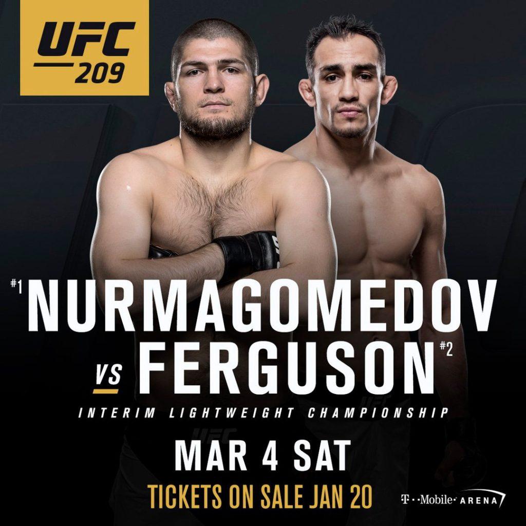 UFC 209 4 марта 2017