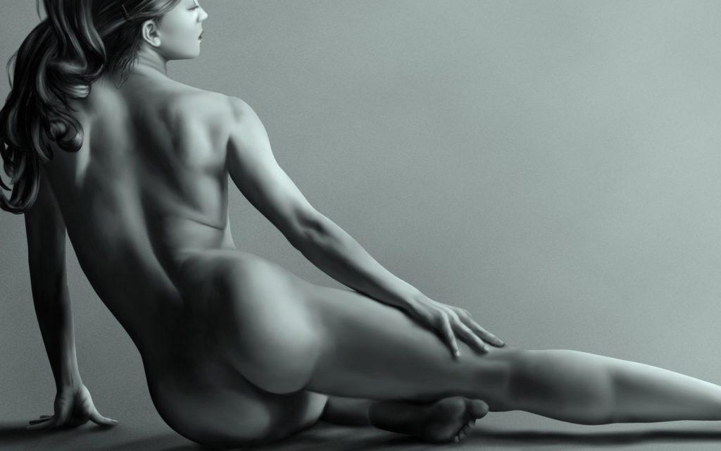 обнаженное женское тело