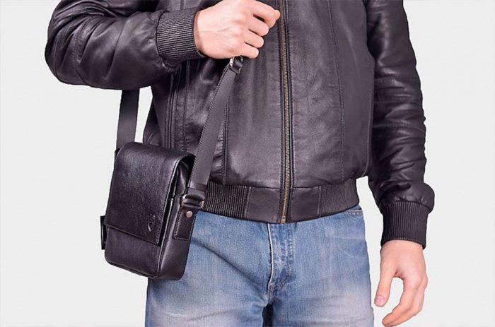 Мужская кожаная сумка через плечо всегда актуальна