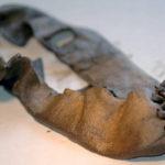 к подошве ноги дощечку или полоску кожи