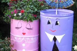 Пластиковые бочки и ведра - необычное применение