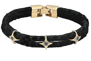 Мужские браслеты из кожи питона или страуса